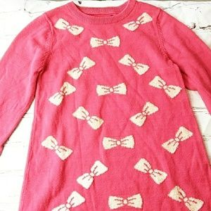 Epic Threads Red Sweater Dress with Gold Bows 5